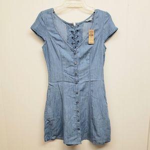 NEW! AEO Denim Button Up Dress